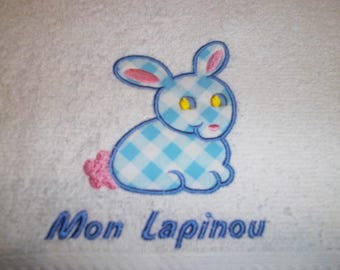 30 X 50 RABBITS EMBROIDERED GUEST TOWEL