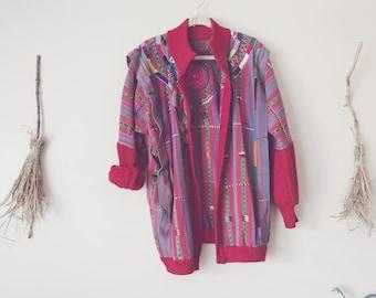 Oversized Embroidered Cardigan