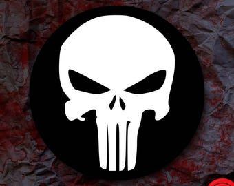 Punisher Logo Sticker Marvel Comics