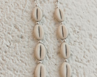 White Shelled Peas Earrings