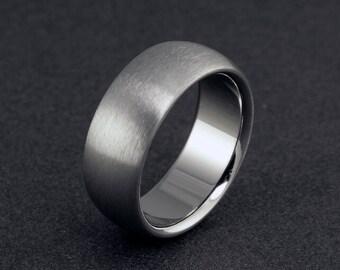 Titanium Wedding Ring, Mens Ring, Womens Ring, Titanium Band, Plain Titanium Ring, Domed Ring, Mens Wedding Band, Engagement Ring, Promise
