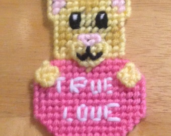 Easter Gift, Cat Valentines Magnet, Critter Magnet,  Gift, Cat Lover Gift, Gift for Kids, Kids Magnets, True Love Magnet, Cat Magnet