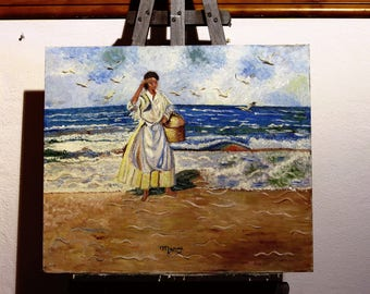 """Painting """"On the Shore"""""""