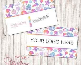 Custom Business Card, Business Card Design, Independent Consultant, seashells, shells, beach, tropical, inspired by LLR