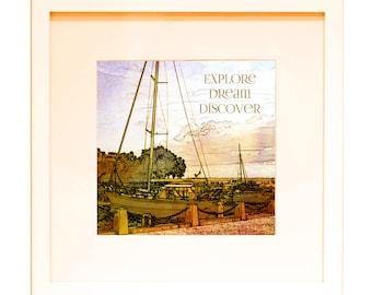 "Explore - Dream - Discover - 12"" x 12"" HD Digital"