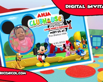 Mickey Mouse Club House Digital Invitation
