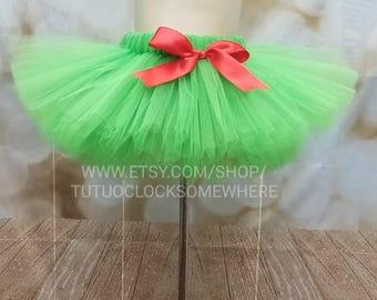Customizable Green Tutu Skirt, Green Adult Tutu, Green Plus Size Tutu, Christmas Tutu, Holiday Tutu, Turtle Tutu, Raphael Tutu, Red Green