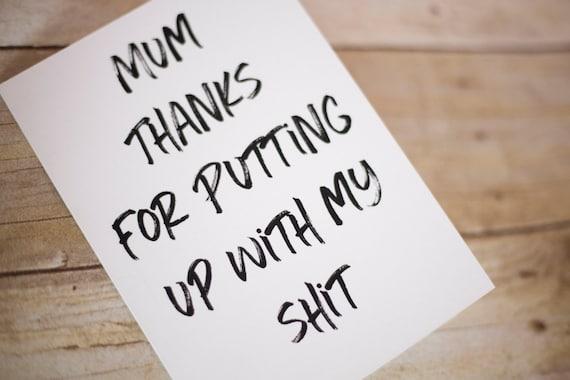 Funny Birthday Card For Mum Mom Birthday Card Mum Birthday