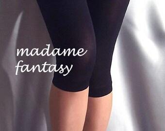 Black thin short spandex leggings