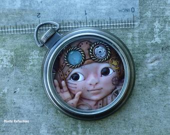 Cornelius Steampunk Pocket Watch Myxie Sculpture