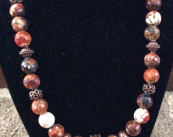 SEMI-PRECIOUS STONES with Copper Beads and Toggle Clasp