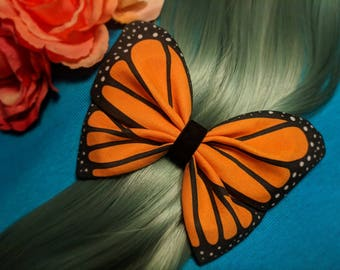 Monarch Butterfly Hairbow