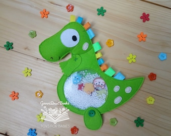 Dinosaur I Spy Bag I Spy Game Seek and Find Quiet Sensory Toy Busy Bag Montessori Travel Toy Toddler Learning Fidget Toy Dinosaur Birthday