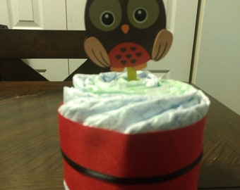 Mini owl Diaper Cake