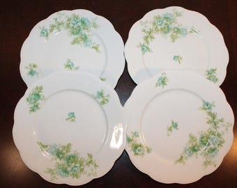FOUR - Set of Four Limonges France Coronet Plates