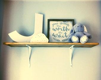 Rustic Driftwood Nursery / Bedroom Shelf / kitchen, bathroom, living room, hallway decor.