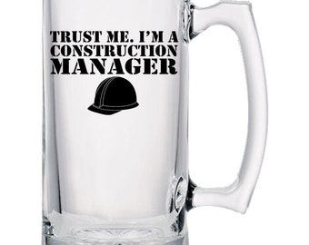 Construction Manager Beer Mugs