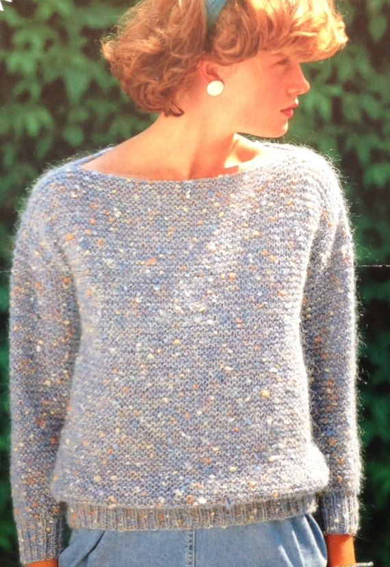 Easy Garter Stitch Knitting Pattern Girlsladieswomens