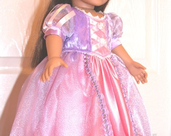 Disney Rapunzel Dress for your American Girl 18 inch Doll