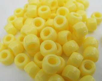 100 Banana Yellow Pony Beads