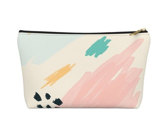 Bold Geometric Make Up Bag  Geometric Print Cosmetic Bag  Carry All Pouch Geometric Pattern Bag