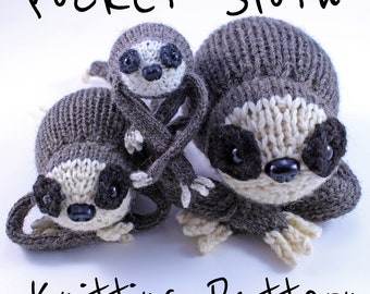 Wicked Chickens Yarn Wickedly Slow Pocket Sloth Knitting Pattern Instant Download PDF