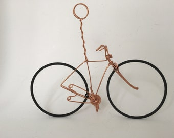 Wedding bicycle table number holders name holders copper wire bicycle table number holder wedding center piece greentooth Gallery