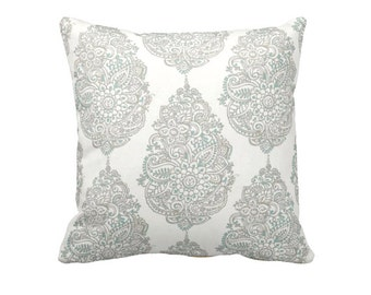 Decorative Throw Pillow Cover Blue Pillow Damask Pillows Decorative Pillows for Couch Pillows Accent Pillows Toss Pillows Beige Cushions