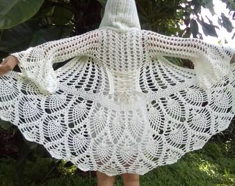 Pattern: Fairy Queen Coat / Pineapple crochet / Cardigan / Jacket