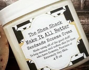 Make It All Better Handmade Eczema Cream! No Chemicals, No Preservatives, No Fillers & Vegan!