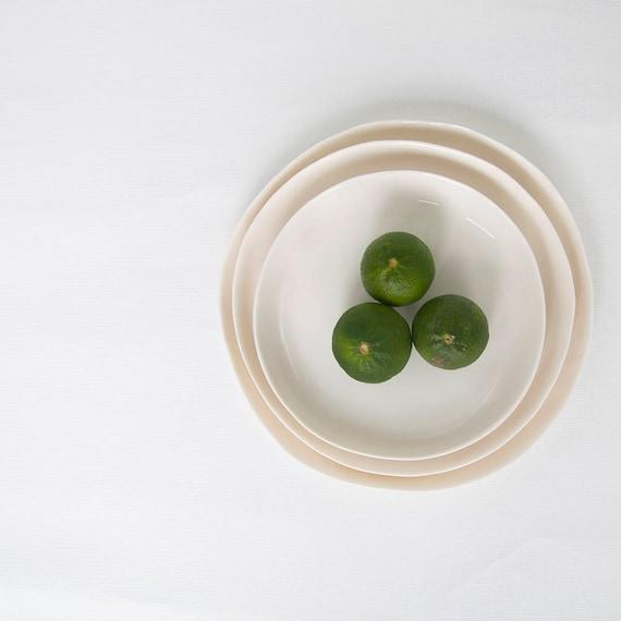 & Porcelain Plate Set Handmade Plates Minimalist Dinnerware