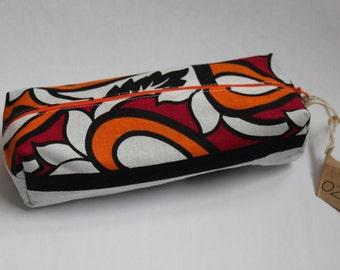 Pencil bag, Zippered Pencil Pouch, Khanga Pencil Bag, Pen Bag, Pencil Pouch
