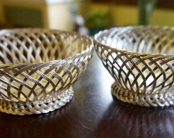 Wire Baskets; Set of Two; Approx. 2 x 4.5 in. Made in Portugal !!!