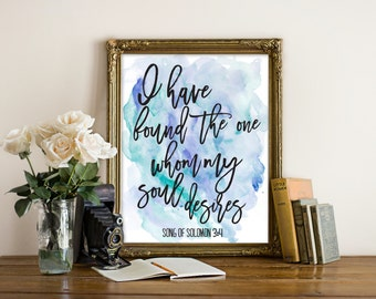 "Bible Verse Print, wall art quotes, quotes poster, poster quote, quote print, quote art, inspirational quote, Typography, Quote, ""Print"""
