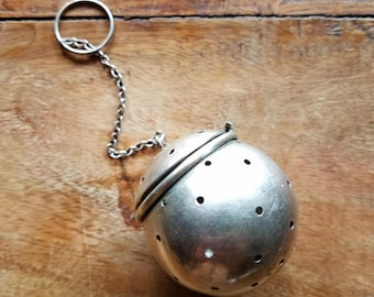 Antique Currier & Roby Sterling Silver Tea Infuser, Currier and Roby Sterling Silver, Sterling Silver Teaball, Tea Infuser