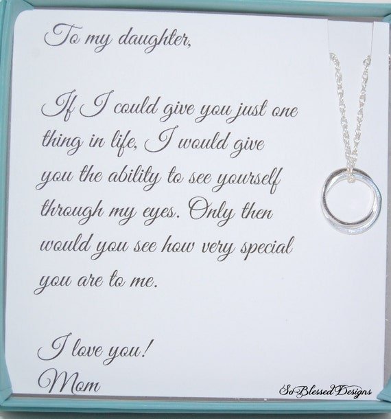 Gifts For Daughter From Mom DAUGHTER Necklace To Daughter