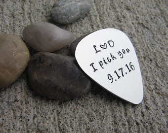 Custom Guitar Pick - Aluminum, Silver, or Copper - Gift for Student - Gift for Teacher - Gifts for Him - Gifts for Her