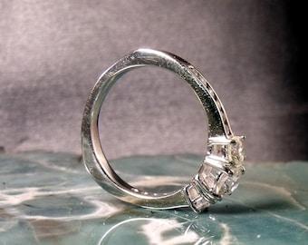 14k or bague de fiançailles avec 1,10 ct diamants RF476
