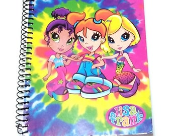 Vintage 90s Lisa Frank Best Friends Small Notebook