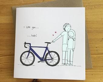 I Love bikes valentines/greetings card