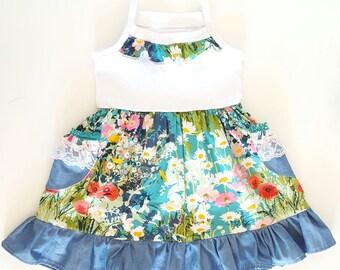girls dress, floral girls dress, girls floral, girl spring dress, spring dresses, girls spring clothes, girls clothing, girls clothes