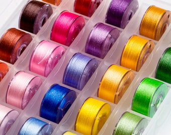 Size A bobbins (SA156) 24 colours to choose from 25p each