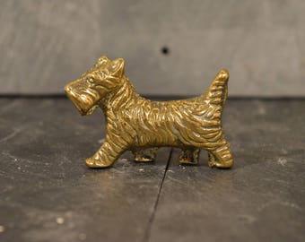 Brass Scottie Scottish terrier dog