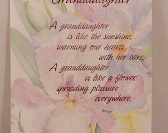NEW! Religious Happy Birthday Granddaughter by DaySpring . 1 Single Card with Envelope.