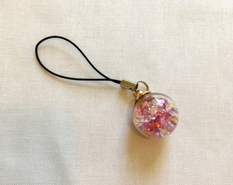 Crystal Globe Scissor Fob, Scissor Charm, Zipper Pull, Cell Phone Charm