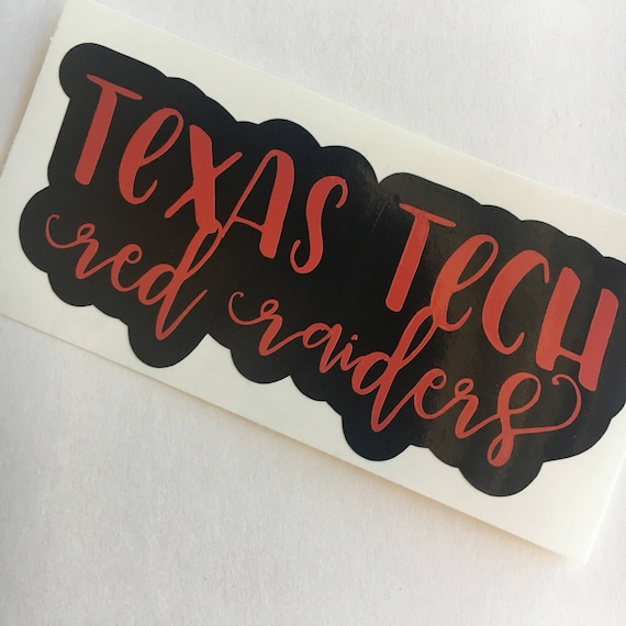 Texas tech sticker red raiders vinyl tech decal wreck em red raiders ttu lubbock texas sticker yeti