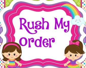 RUSH FEE ** Please contact me prior to placing a rush order**