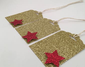 Handmade Gift Tags, Holiday, Set of 12