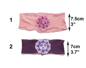 Rose / purple sun ra celestial headband