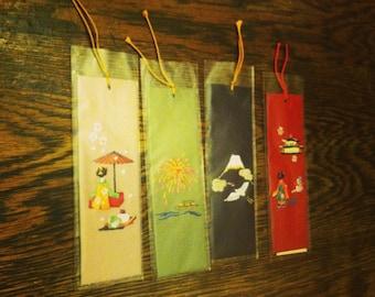 Set of 4 Japanese Bookmarks